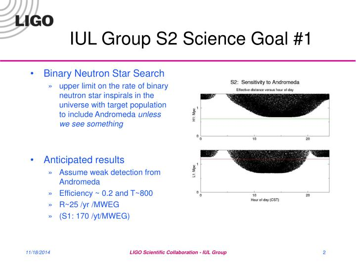 Iul group s2 science goal 1