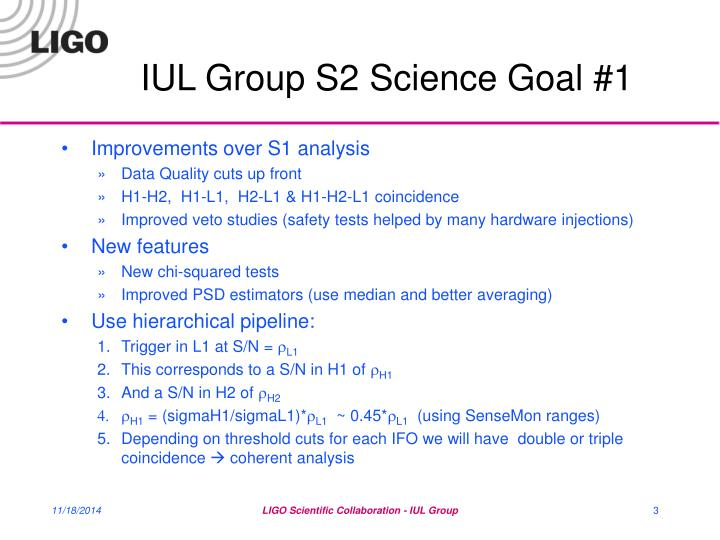 Iul group s2 science goal 11