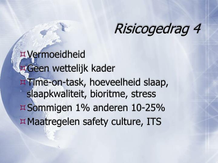 Risicogedrag 4