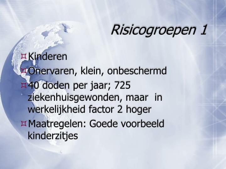 Risicogroepen 1