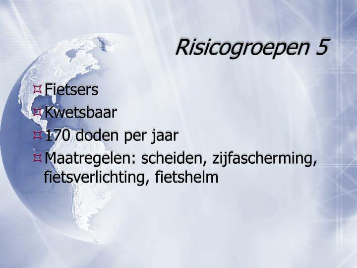 Risicogroepen 5
