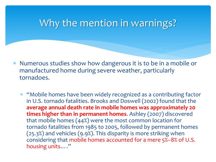Why the mention in warnings?