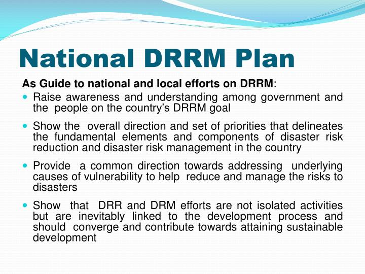 National DRRM Plan