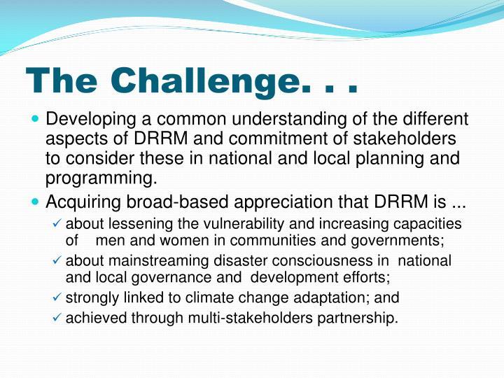 The Challenge. . .