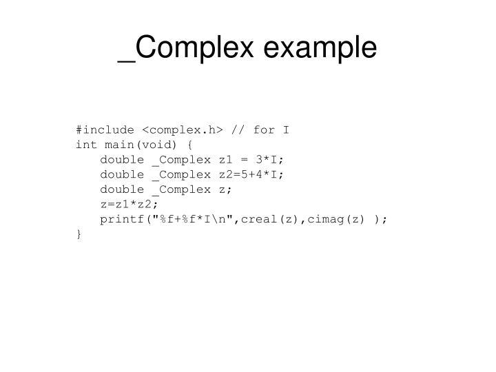_Complex example