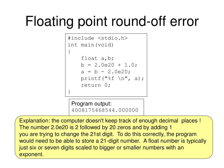 Floating point round-off error