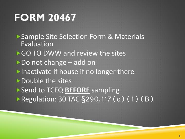 FORM 20467