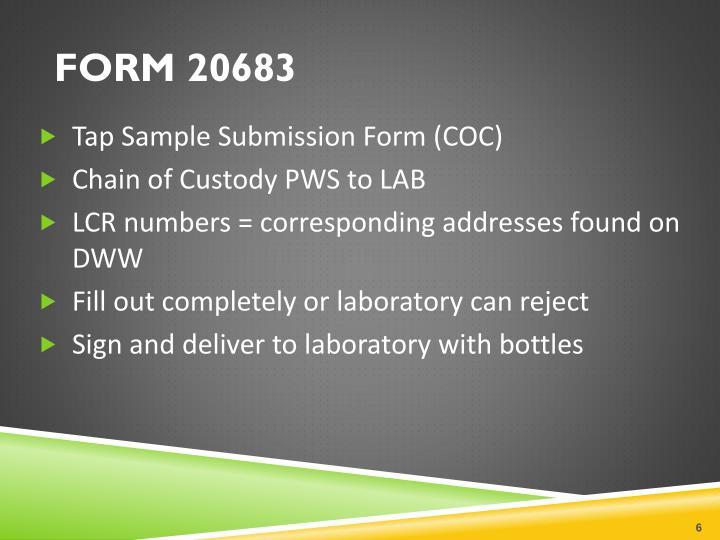 FORM 20683