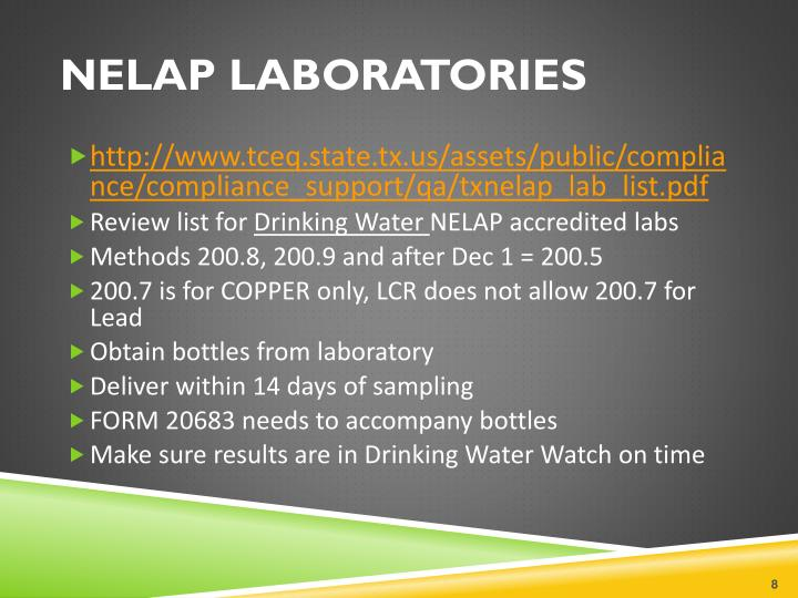 NELAP LABORATORIES