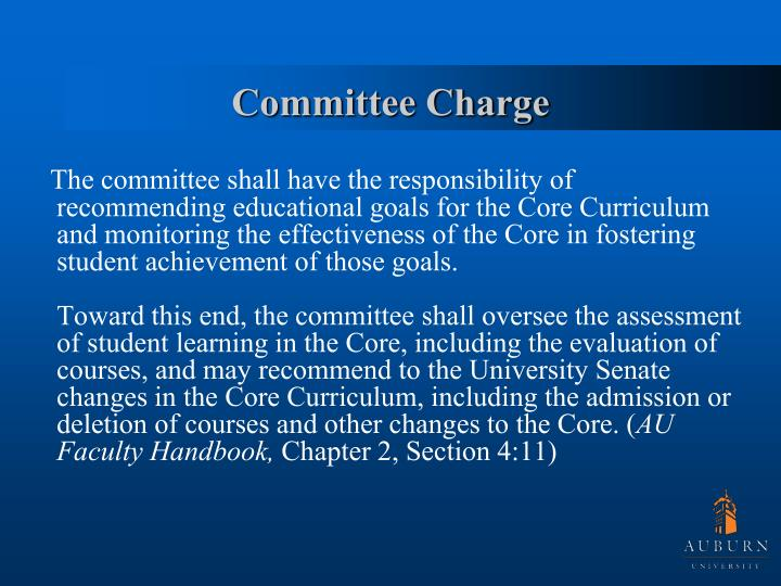 Committee charge