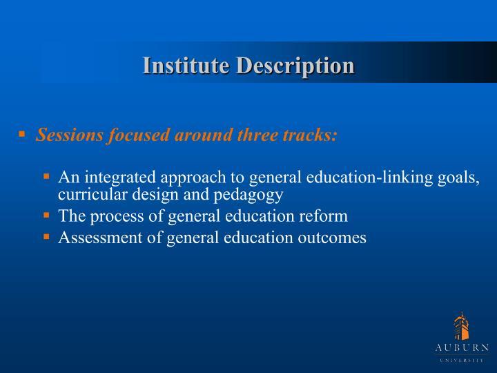 Institute Description