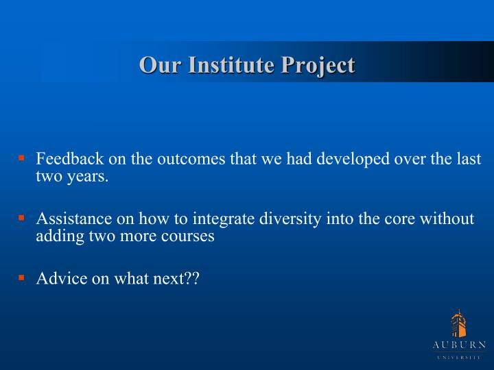 Our Institute Project