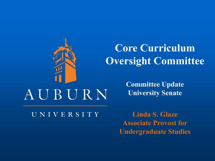 Core Curriculum Oversight Committee