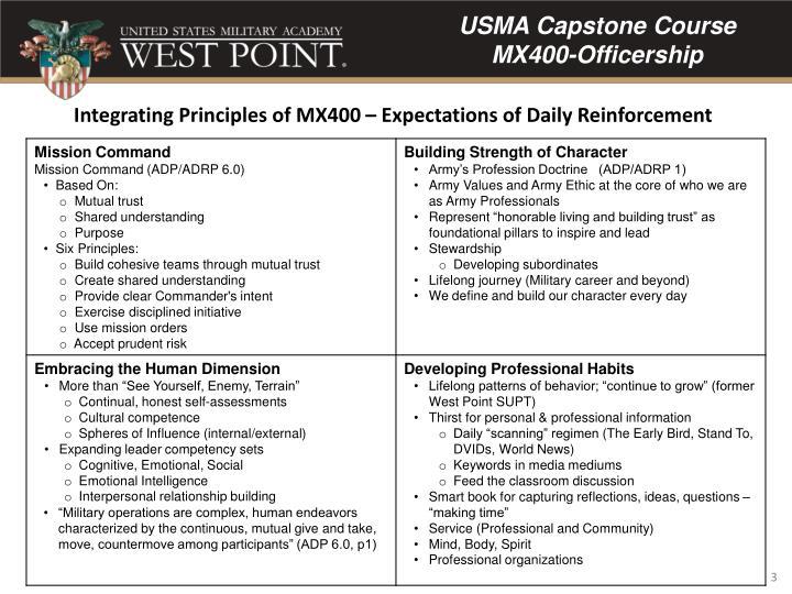 USMA Capstone Course