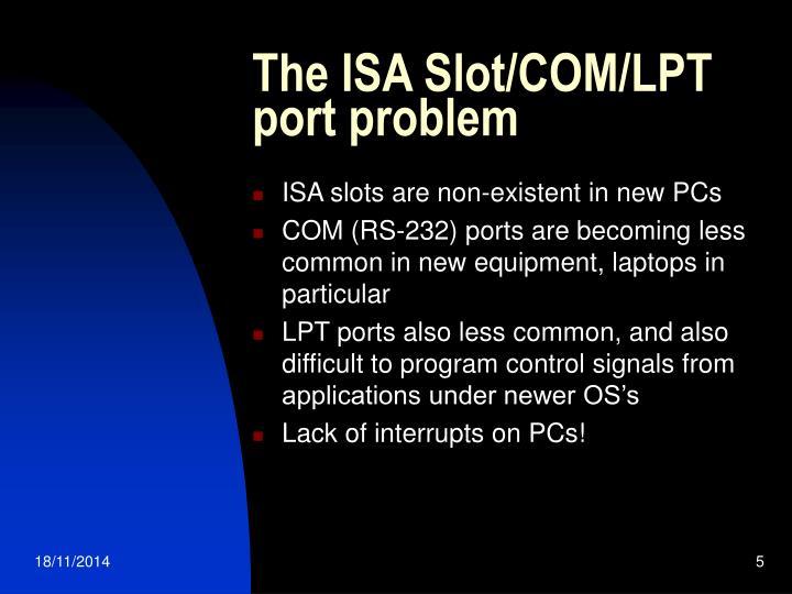 The ISA Slot/COM/LPT port problem
