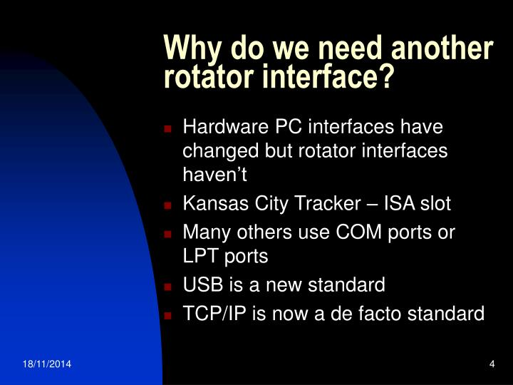 Why do we need another rotator interface?