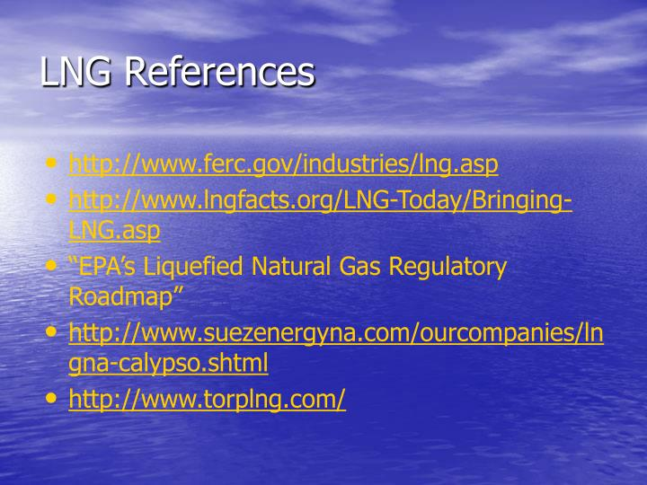 LNG References