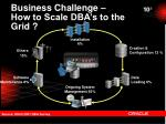 business challenge how to scale dba s to the grid