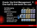 oracle 10 g grid management one half to one tenth the cost