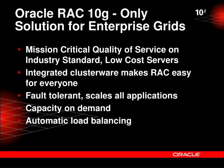 Oracle RAC 10g - Only