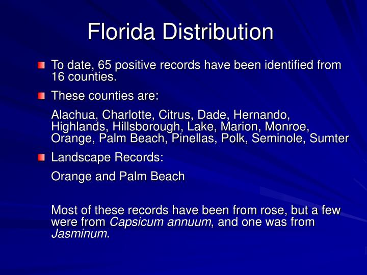 Florida Distribution
