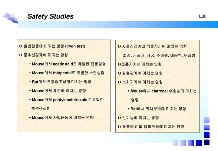 Safety Studies