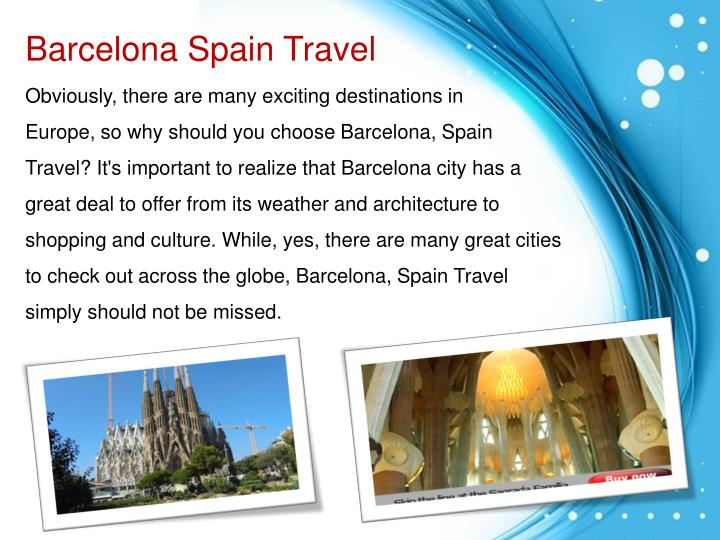 Barcelona Spain Travel
