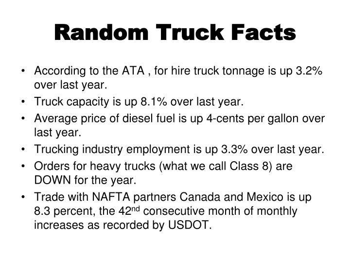 Random Truck Facts