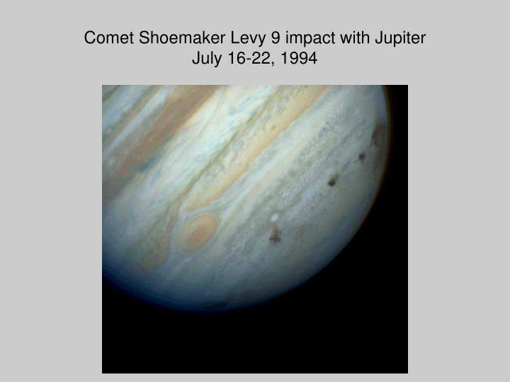 Comet Shoemaker Levy 9 impact with Jupiter
