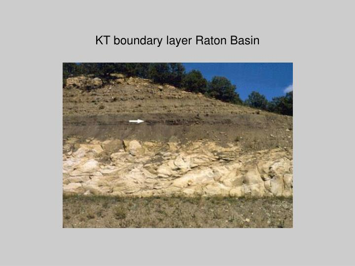 KT boundary layer Raton Basin