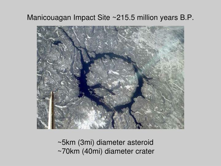 Manicouagan Impact Site ~215.5 million years B.P.