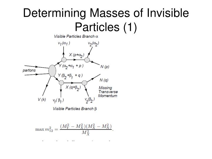 Determining Masses of Invisible Particles (1)