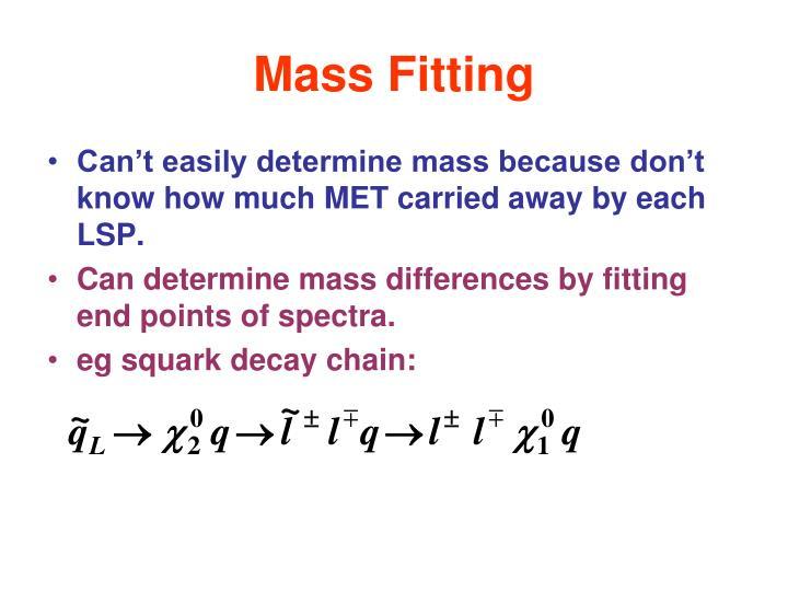 Mass Fitting