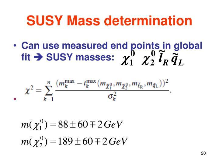 SUSY Mass determination