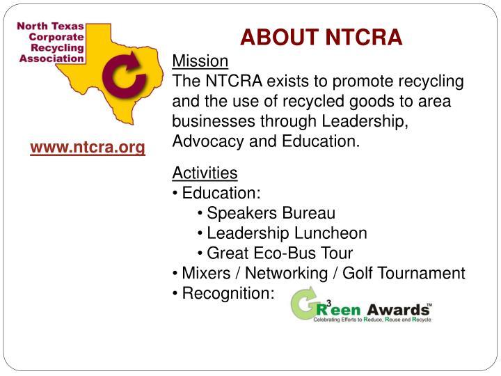 ABOUT NTCRA