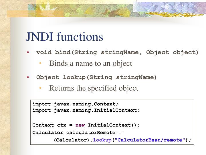 JNDI functions
