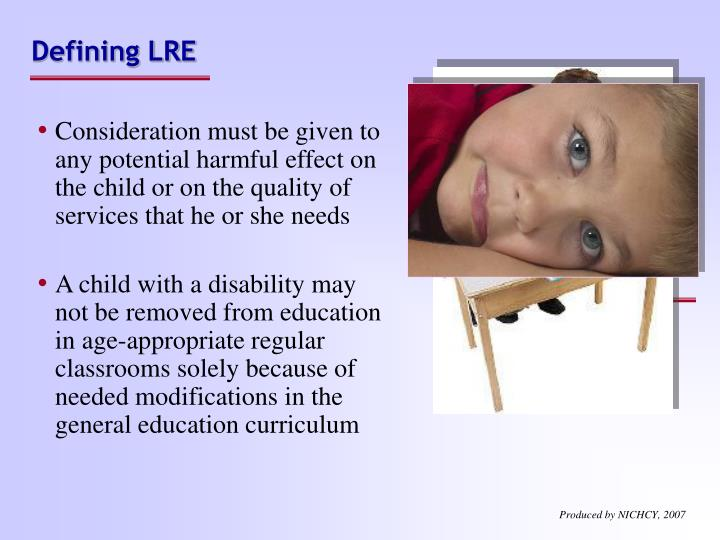 Defining LRE