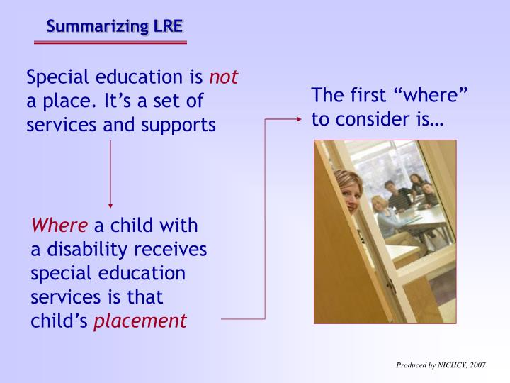 Summarizing LRE