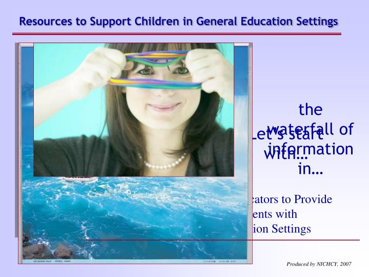 Resources to Support Children in General Education Settings