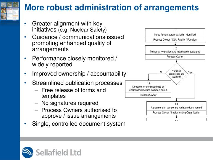 More robust administration of arrangements
