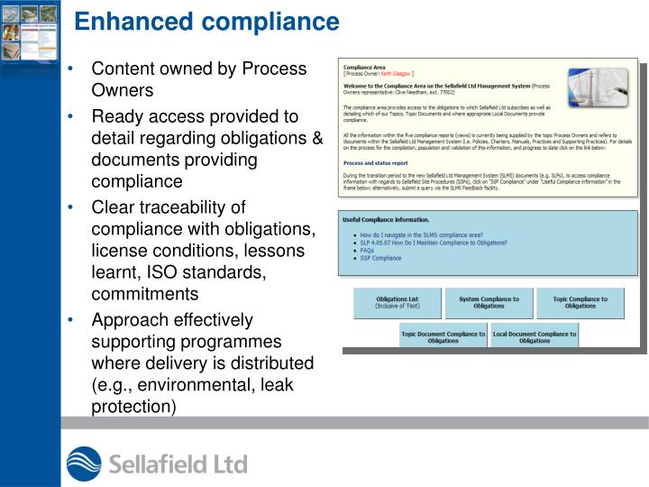 Enhanced compliance