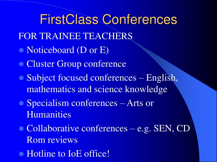 FirstClass Conferences