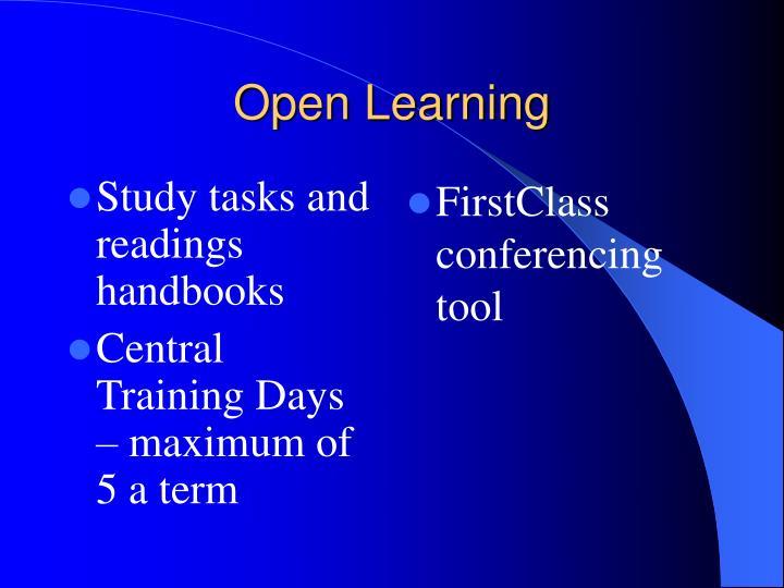 Study tasks and readings handbooks