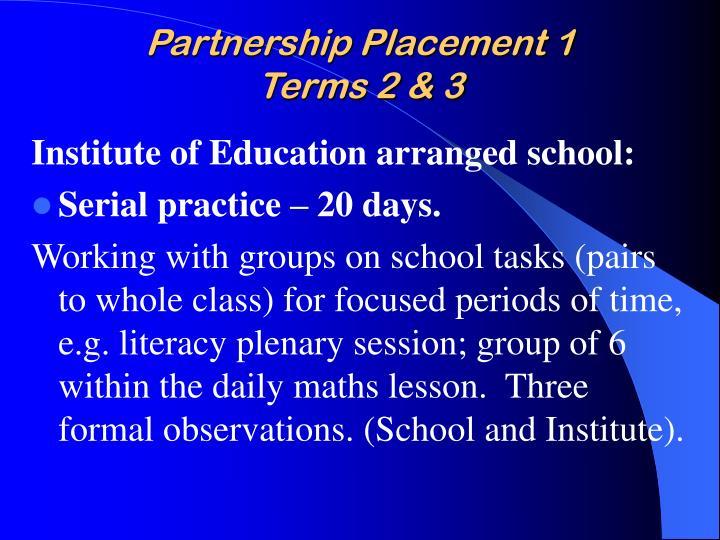 Partnership Placement 1