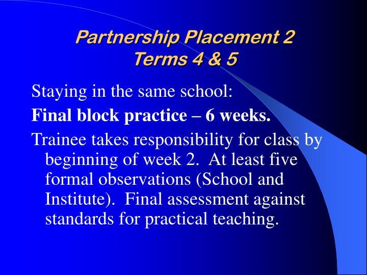 Partnership Placement 2