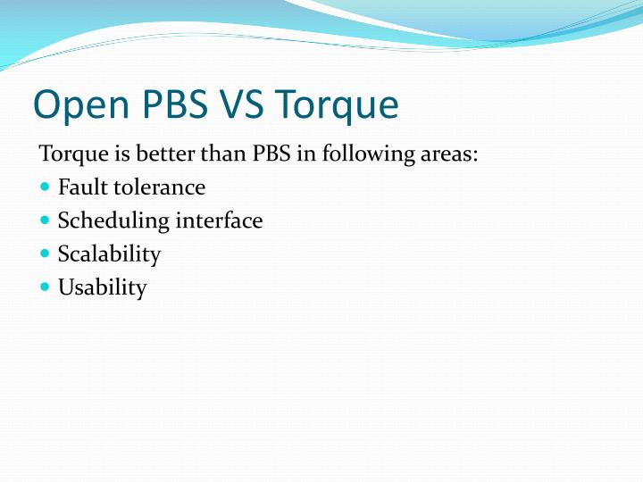 Open PBS VS Torque