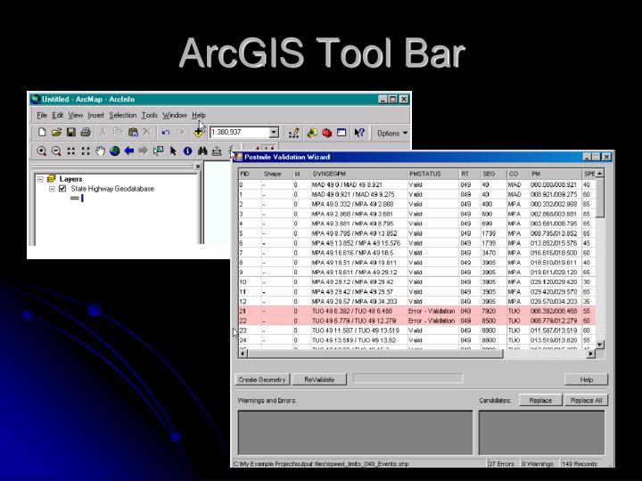 ArcGIS Tool Bar