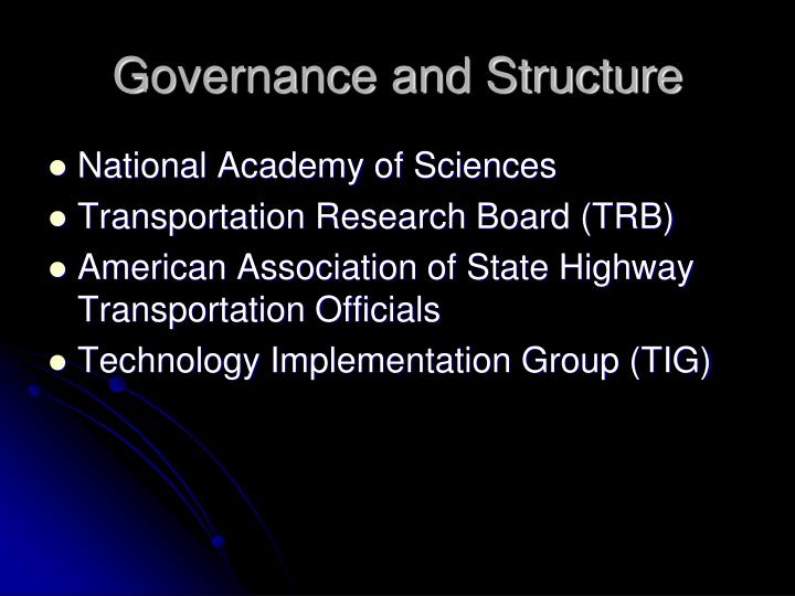 Governance and structure