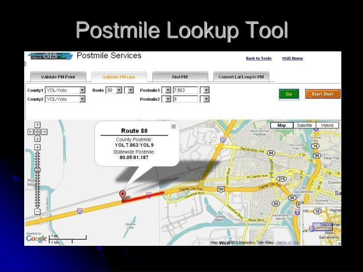 Postmile Lookup Tool