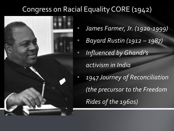 the congress of racial equality Core - congress of racial equality, new york, ny 704 likes 1 talking about this 14 were here core is the acronym for congress of racial equality.